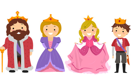 Illustration of Kids Dressed Like Members of the Royal Family