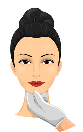 cosmetic surgery: Illustration of a Woman Undergoing a Cosmetic Surgery Assessment