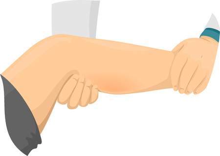 physical therapist: Illustration of a Doctor Examining a Patient Suffering From Leg Cramps