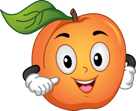 apricot: Mascot Illustration of an Apricot Doing a Hand Gesture