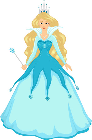 ice queen: Illustration of a Queen With the Power to Control Ice