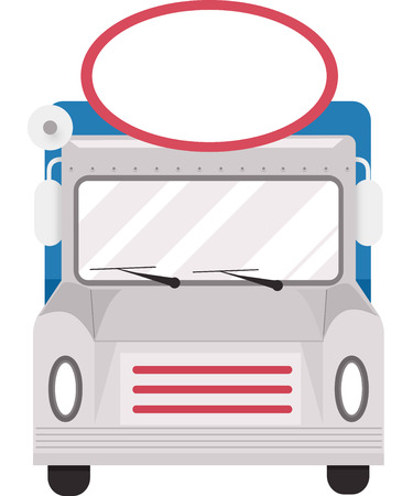 food clipart: Illustration of a Food Truck With a Blank Sign on Top