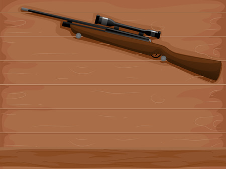 Scope: Background Illustration of a Rifle with an Attached Scope