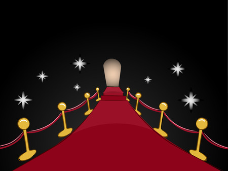 glitz: Illustration of a Red Carpet Leading to a Distant Entrance