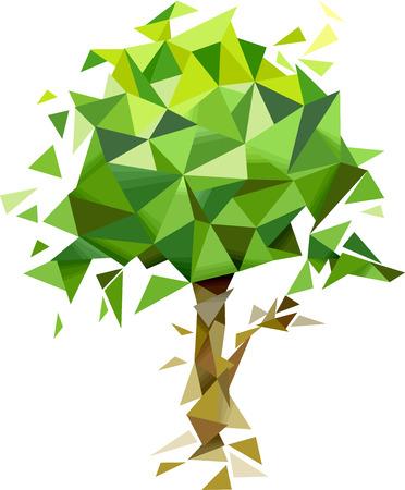Ilustración de un árbol abstracto con un diseño geométrico Foto de archivo - 40109229