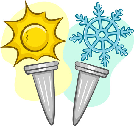 torches: Illustration of Torches for Summer and Winter Games