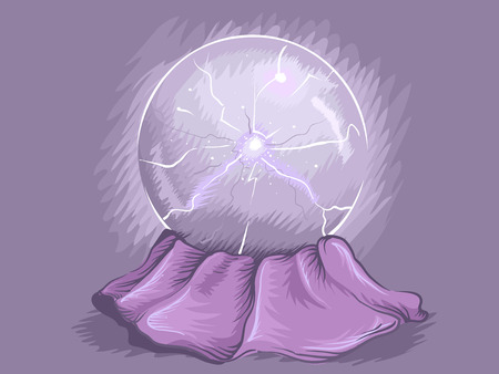 charges: Illustration of a Plasma Ball Demonstrating Electrical Charges