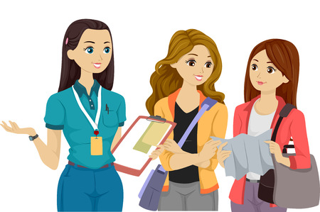 tertiary: Illustration of Teenage Volunteers Having a Discussion