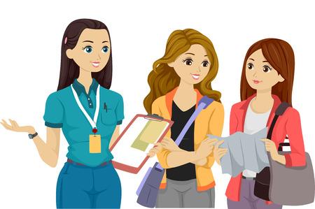 Illustration of Teenage Volunteers Having a Discussion