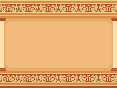 elaborate: Frame Illustration Featuring Cornices with Elaborate Designs