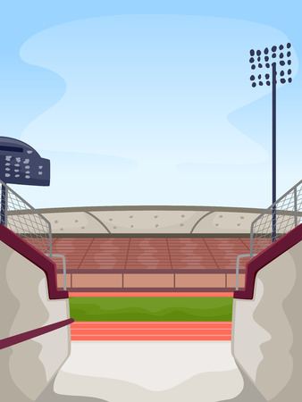 athletic: Illustration Featuring the Entrance to a Track and Field Stadium