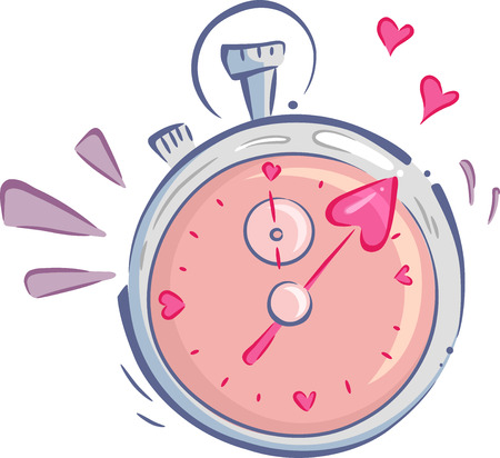 dating: Illustration of a Stopwatch Used for Speed Dating