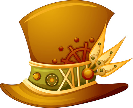 steampunk: Illustration of a Top Hat with a Steampunk Design