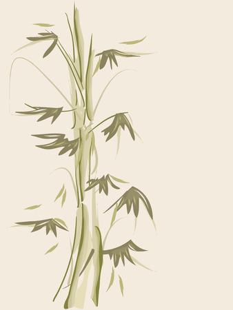 wispy: Background Illustration of Bamboos Drawn with Wispy Strokes