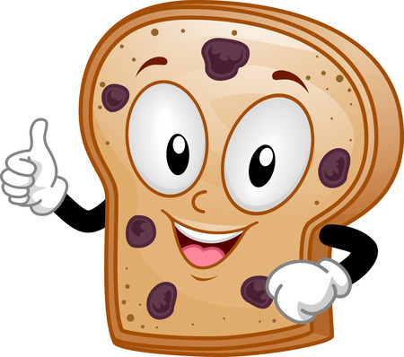 raisins: Mascot Illustration of a Raisin Bread Giving a Thumbs Up