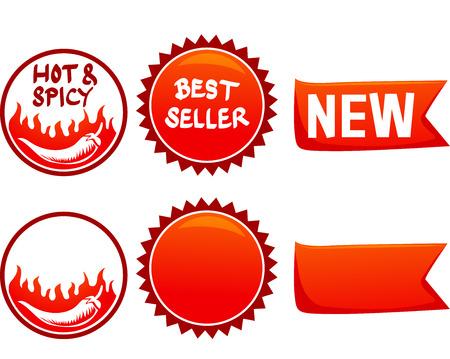 fast food: Illustration of Ready to Print Fast Food Menu Labels