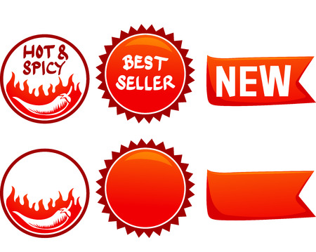 comida rapida: Ilustración de Listo para imprimir etiquetas de menú de comida rápida Foto de archivo
