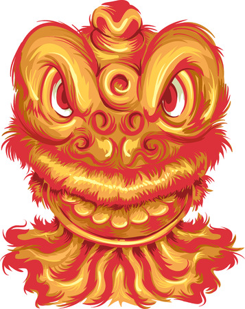typically: Illustration of a Dragon Mascot Typically Seen in Chinese New Year Celebrations Stock Photo