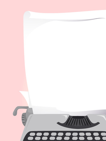 pressed: Background Illustration of a Piece of Paper Pressed Against a Typewriter