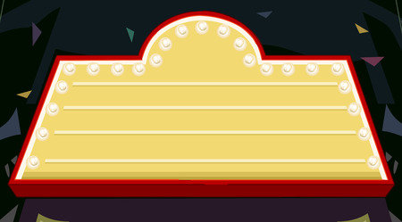 performing arts event: Illustration of a Nightclub Marquee with the Lights On