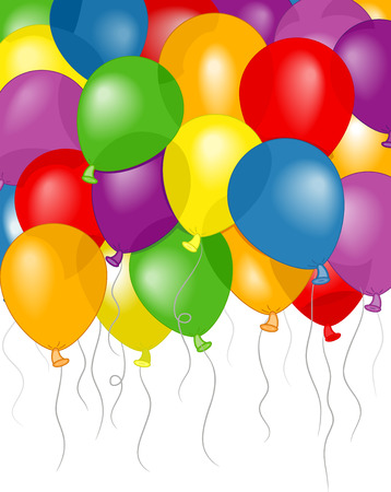 special occasion: Background Illustration of Colorful Balloons Floating Freely Stock Photo