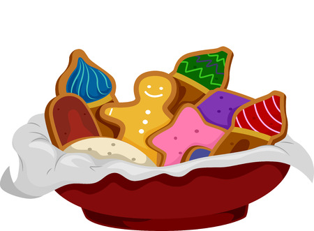 gingerbread: Illustration of Gingerbread Cookies Shaped Like Onion Domes Stock Photo