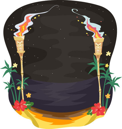330 Tiki Party Stock Vector Illustration And Royalty Free Tiki ...