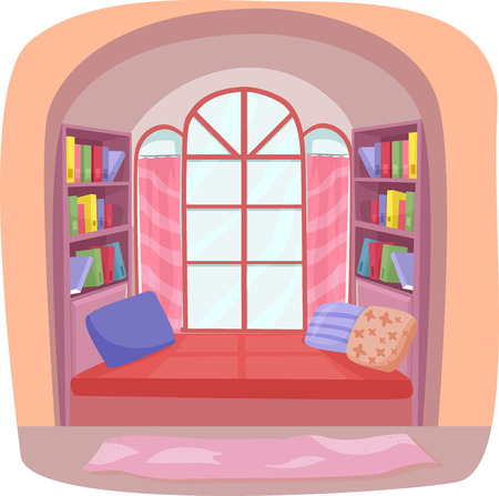 nook: Interior Illustration Featuring a Fancy Nook in a House