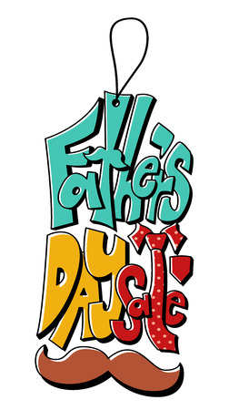 fathers: Typography Illustration for a Fathers Day Sale Stock Photo