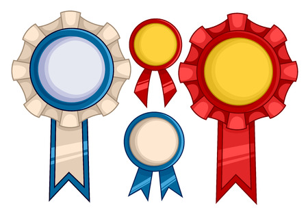commendation: Illustration Featuring Ribbons with Different Designs