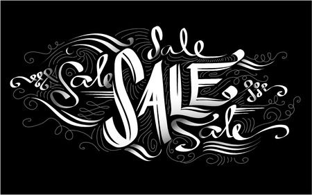 discounted: Text Illustration Featuring the Word Sale Written Against a Black Background