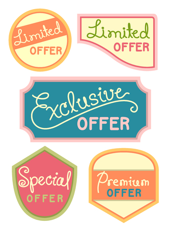markdown: Text Illustration Featuring Labels Offering Exclusive Discounts