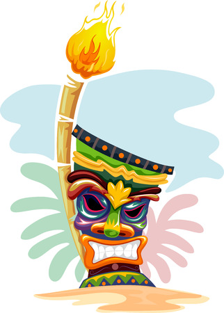 557 Tiki Mask Stock Illustrations, Cliparts And Royalty Free Tiki ...