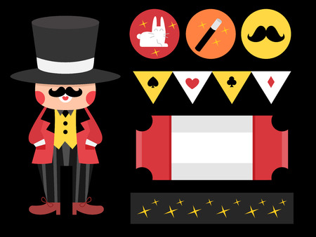printables: Illustration Featuring Party Printables with a Magic Theme