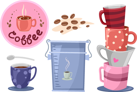 related: Illustration of Elements Related to Coffee Making