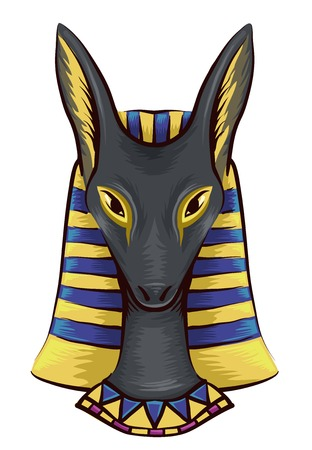 bust: Illustration of the Bust of an Ancient Egyptian God