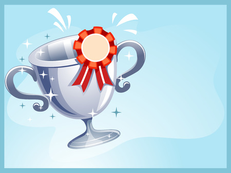 achievement clip art: Illustration of a Template for Certificate of Achievement Stock Photo