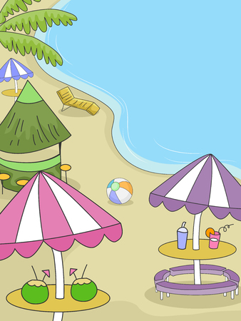 beach party: Illustration of a Party Held at the Beach