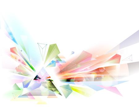 Ilustración de un prisma abstracto hecho con diferentes colores