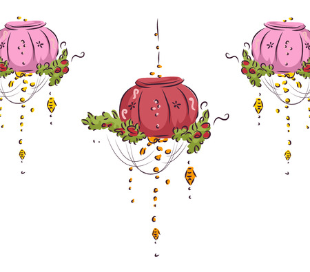 fancy: Illustration of Fancy Hanging Decors