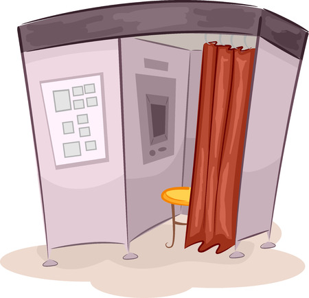 Illustration of a Photo Booth Stock Photo