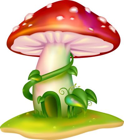 a fly agaric: Illustration of a Mushroom House