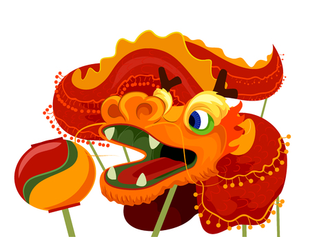 dance costume: Illustration of a Dragon Dance Costume for Chinese New Year