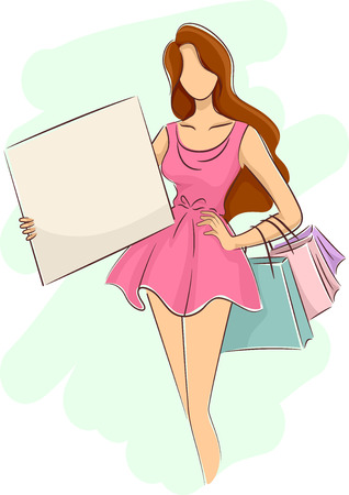 34,554 Ladies Shopping Stock Illustrations, Cliparts And Royalty ...