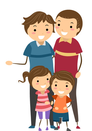 College Hookup Gay Parents Cartoon Clipart