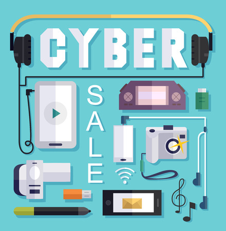markdown: Illustration Featuring a Cyber Sale Poster
