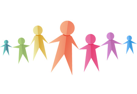cutouts: Illustration of a Group of Colorful Paper Cutouts