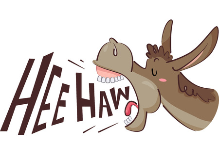 Illustratie van een ezel balken
