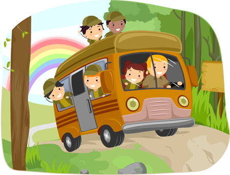 man illustration: Stickman Illustration Featuring Kids Going Camping