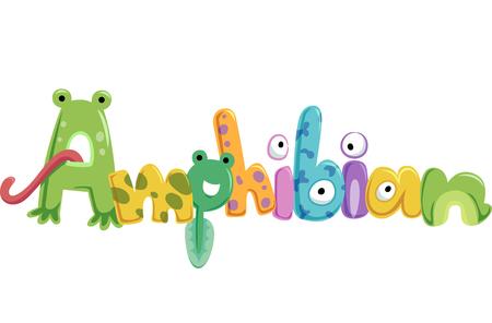 tadpole: Typography Illustration Featuring Amphibians